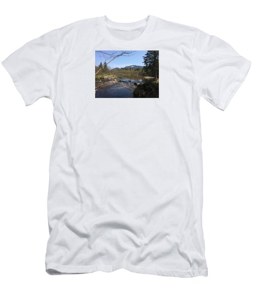 Men's T-Shirt (Slim Fit) featuring the photograph Mt. Katahdin by Robin Regan