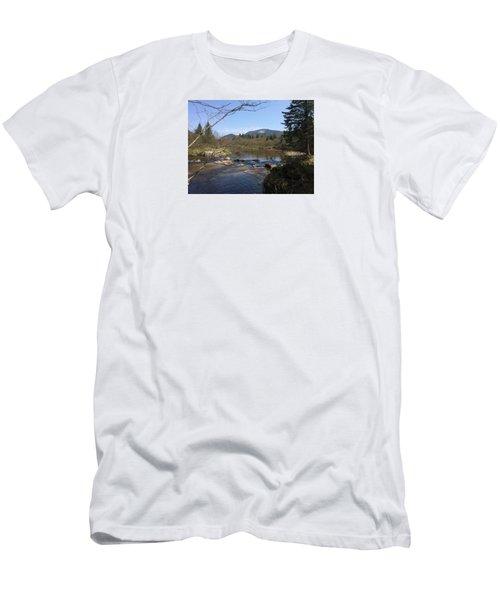 Mt. Katahdin Men's T-Shirt (Slim Fit) by Robin Regan