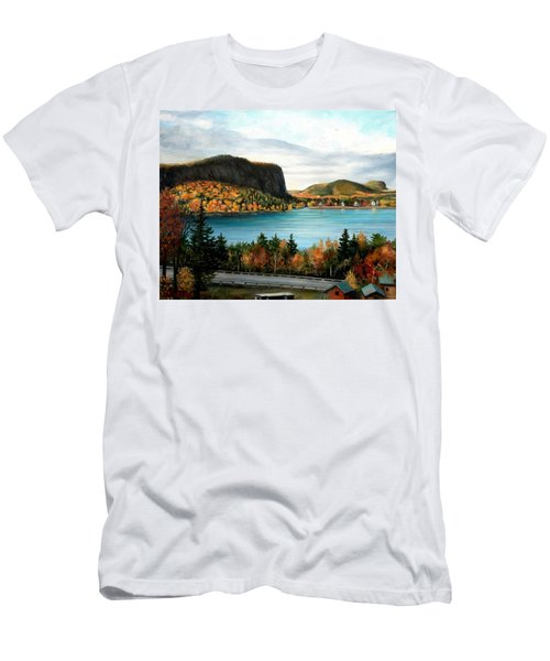 Mt. Kineo, Rockwood, Maine Men's T-Shirt (Athletic Fit)