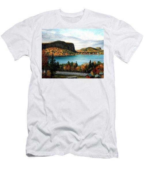 Mt. Kineo, Rockwood, Maine Men's T-Shirt (Athletic Fit)