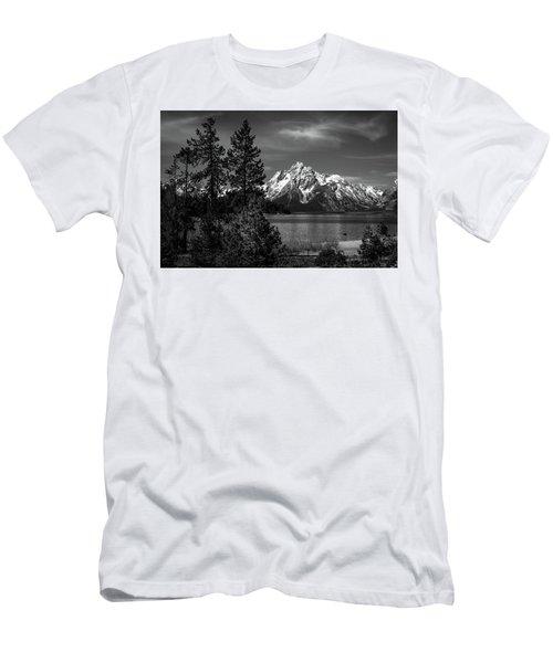 Mt. Moran And Trees Men's T-Shirt (Athletic Fit)