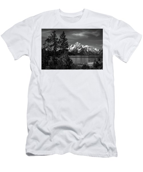 Mt. Moran And Trees Men's T-Shirt (Athletic Fit)