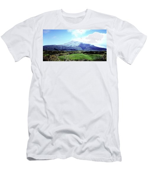 Men's T-Shirt (Athletic Fit) featuring the photograph Mt. Pele, Martinique by Merton Allen