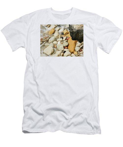 multi colored Beach rocks Men's T-Shirt (Athletic Fit)