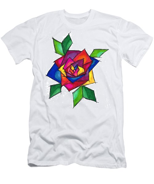 Multi Rose Men's T-Shirt (Athletic Fit)