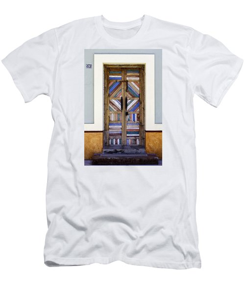 Multicolored Door Men's T-Shirt (Athletic Fit)