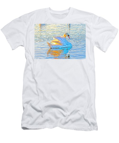 Multicolour Swan Men's T-Shirt (Athletic Fit)