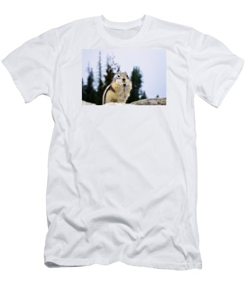 Men's T-Shirt (Slim Fit) featuring the photograph Munching by Janie Johnson