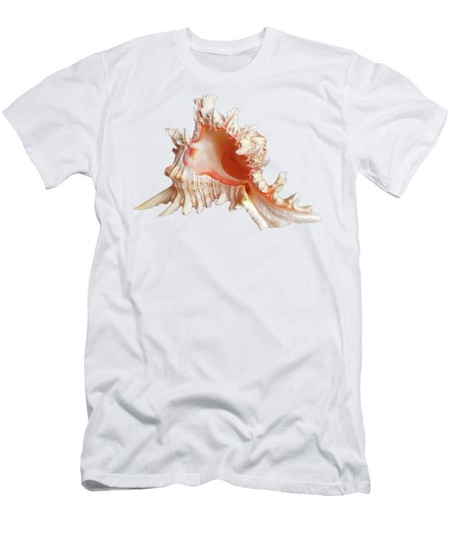 Murex Shell On White Men's T-Shirt (Athletic Fit)