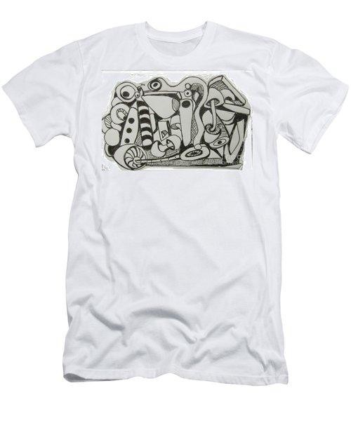 Mushroom Powered Engine 004 - Bellingham - Lewisham Men's T-Shirt (Slim Fit) by Mudiama Kammoh