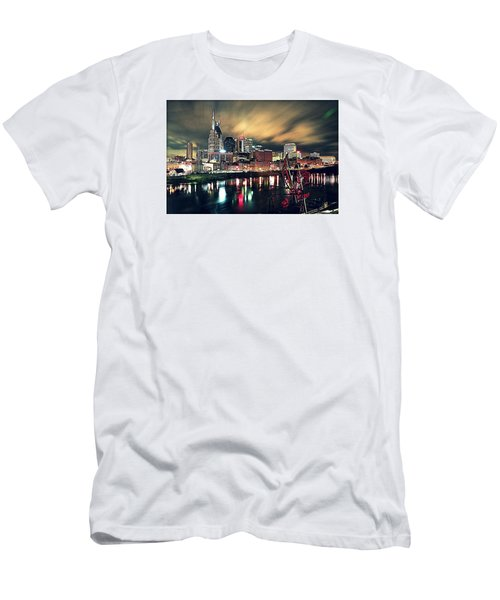 Music City Midnight Men's T-Shirt (Slim Fit) by Matt Helm