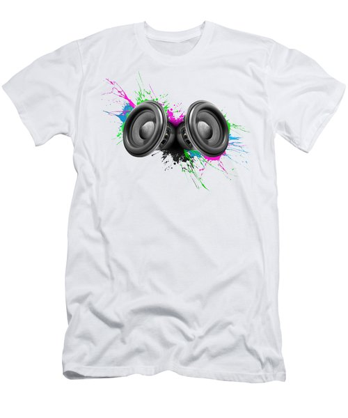 Music Speakers Colorful Design Men's T-Shirt (Athletic Fit)
