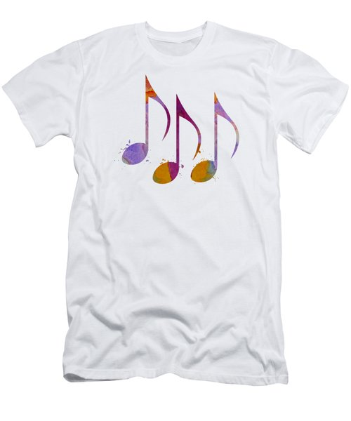 Musical Notes Men's T-Shirt (Athletic Fit)