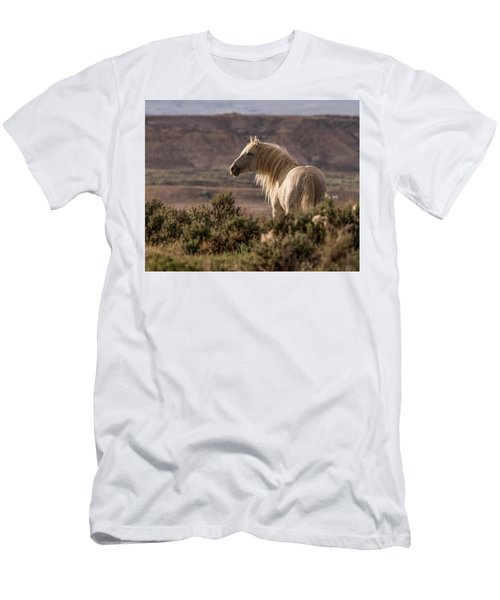 Mustang At Sunset Men's T-Shirt (Athletic Fit)