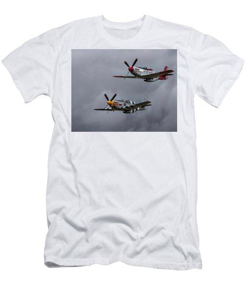 Men's T-Shirt (Slim Fit) featuring the photograph Mustangs by Elvira Butler