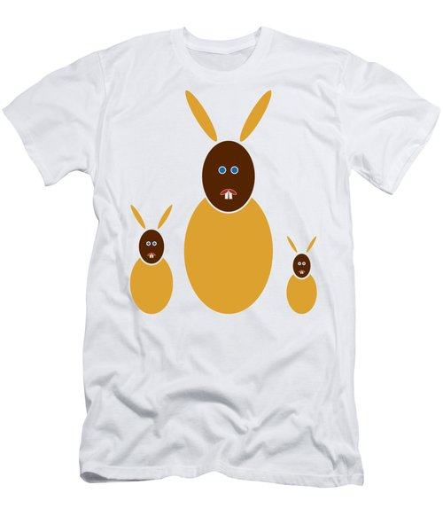 Mustard Bunnies Men's T-Shirt (Athletic Fit)