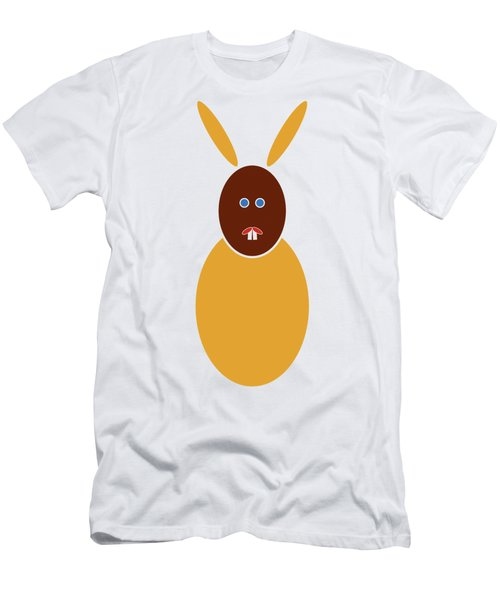 Men's T-Shirt (Slim Fit) featuring the painting Mustard Bunny by Frank Tschakert