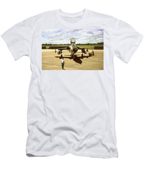 Men's T-Shirt (Slim Fit) featuring the digital art My Baby F-105 by Peter Chilelli