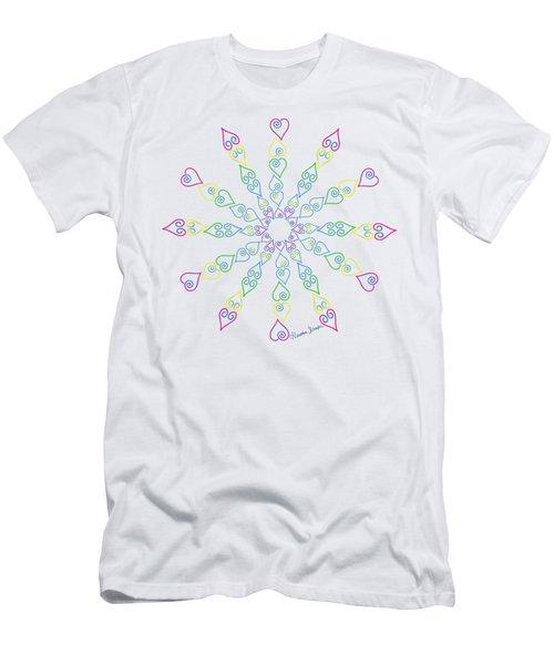 My Heart Flip Flops Men's T-Shirt (Athletic Fit)