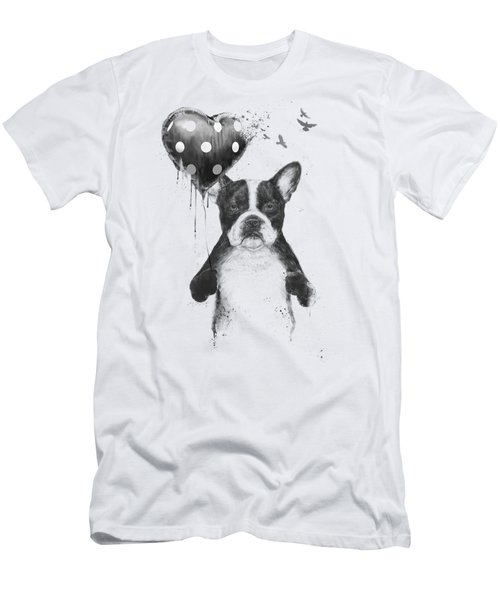 My Heart Goes Boom Men's T-Shirt (Athletic Fit)