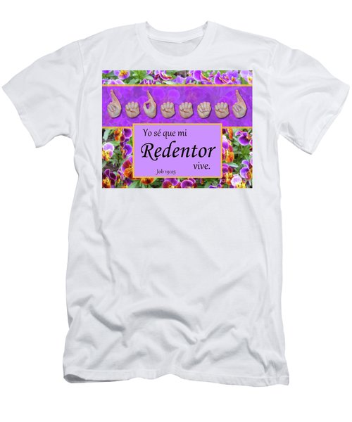 My Redeemer Lives Spanish Men's T-Shirt (Athletic Fit)