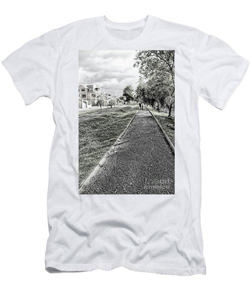 Men's T-Shirt (Slim Fit) featuring the photograph My Street II by Al Bourassa