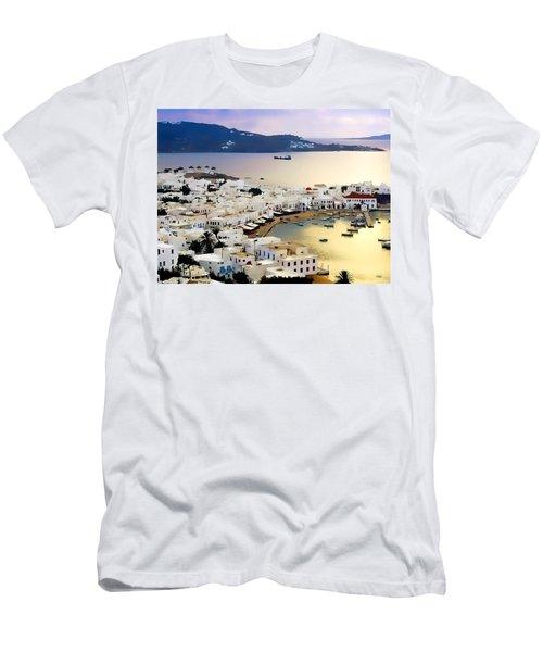Mykonos Greece Men's T-Shirt (Athletic Fit)