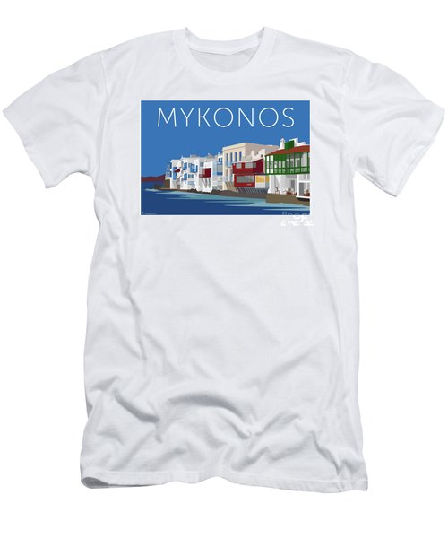 Mykonos Little Venice - Blue Men's T-Shirt (Athletic Fit)