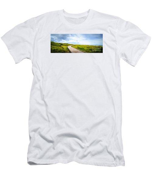 Myrtle Beach State Park Boardwalk Men's T-Shirt (Slim Fit) by David Smith