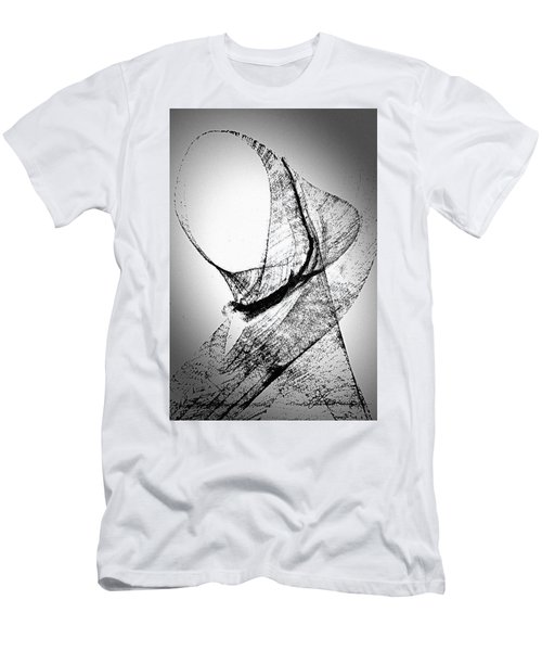 Men's T-Shirt (Athletic Fit) featuring the painting Mysterious Lady by Joan Reese