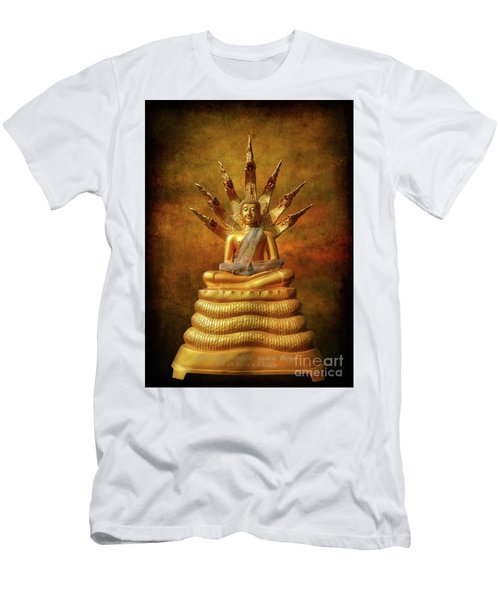 Men's T-Shirt (Slim Fit) featuring the photograph Naga Buddha by Adrian Evans
