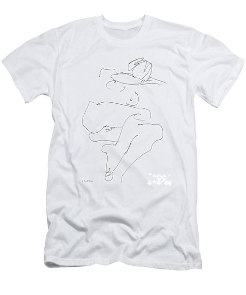 Naked-female-art-21 Men's T-Shirt (Athletic Fit)