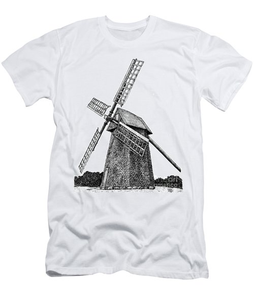 Nantucket Windmill Number One Men's T-Shirt (Athletic Fit)
