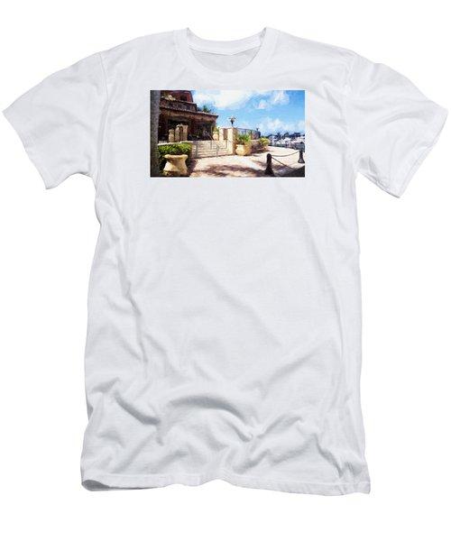 Naples Scenic Places Men's T-Shirt (Slim Fit) by Rena Trepanier