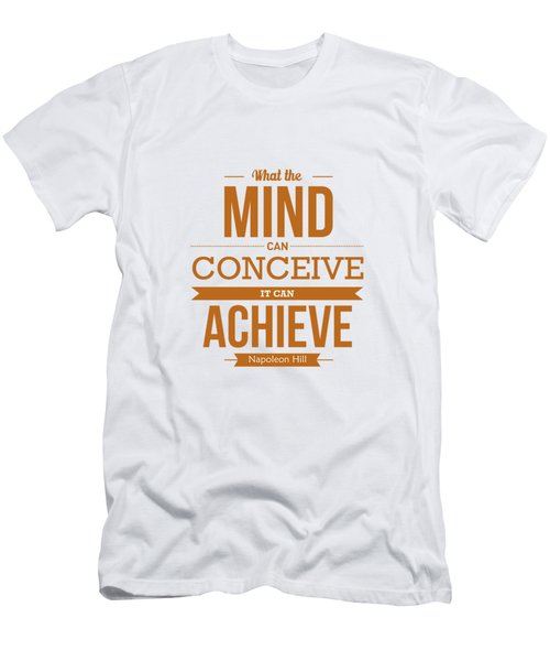 Napoleon Hill Typography Art Quotes Poster Men's T-Shirt (Athletic Fit)