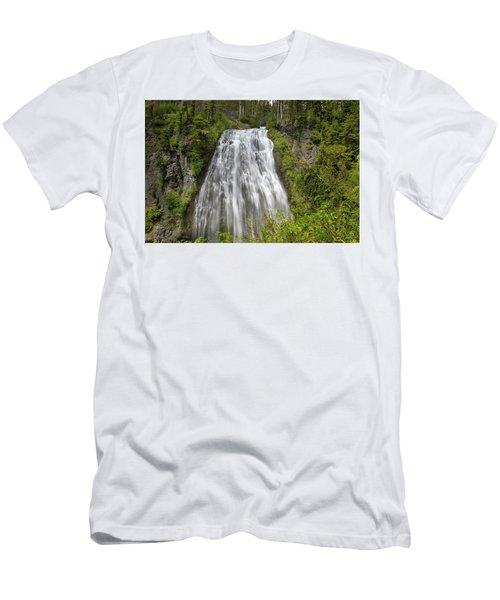 Narada Falls In Mount Rainier National Park Men's T-Shirt (Athletic Fit)