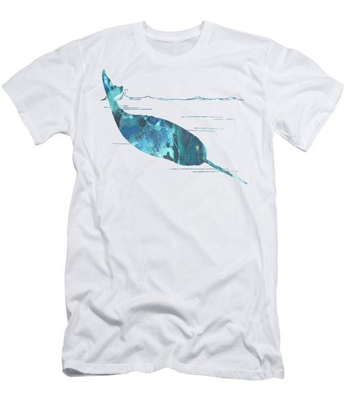 Narwhal Men's T-Shirt (Slim Fit) by Mordax Furittus