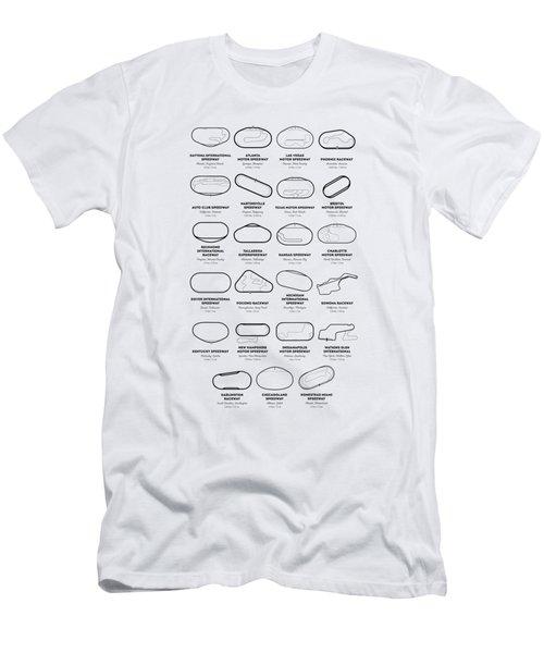 Nascar Racetracks 2018 Men's T-Shirt (Athletic Fit)