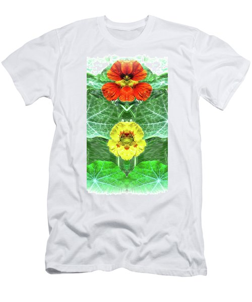 Nasturtium Mirror Image Pareidolia Men's T-Shirt (Athletic Fit)