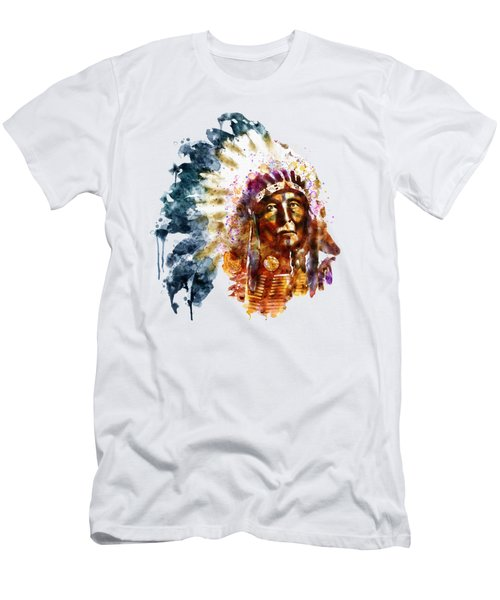 Native American Chief Men's T-Shirt (Athletic Fit)