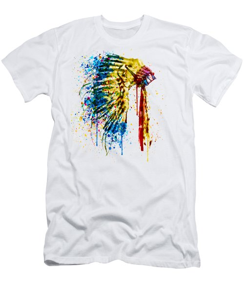 Native American Feather Headdress   Men's T-Shirt (Athletic Fit)