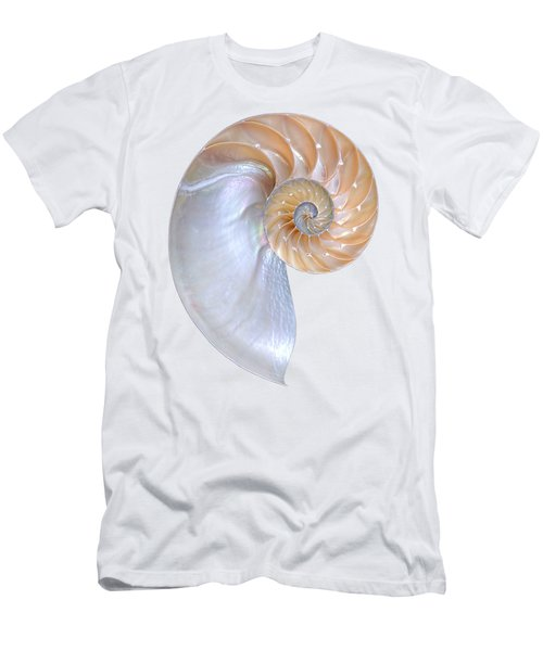 Natural Nautilus On White Vertical Men's T-Shirt (Athletic Fit)