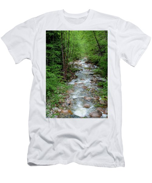Naturally Pure Stream Backroad Discovery Men's T-Shirt (Athletic Fit)