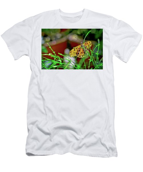 Nature - Butterfly And Plants Men's T-Shirt (Athletic Fit)