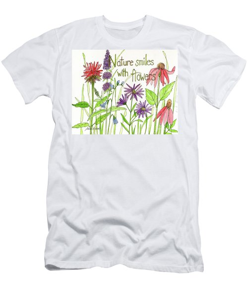Nature Smile With Flowers Men's T-Shirt (Athletic Fit)