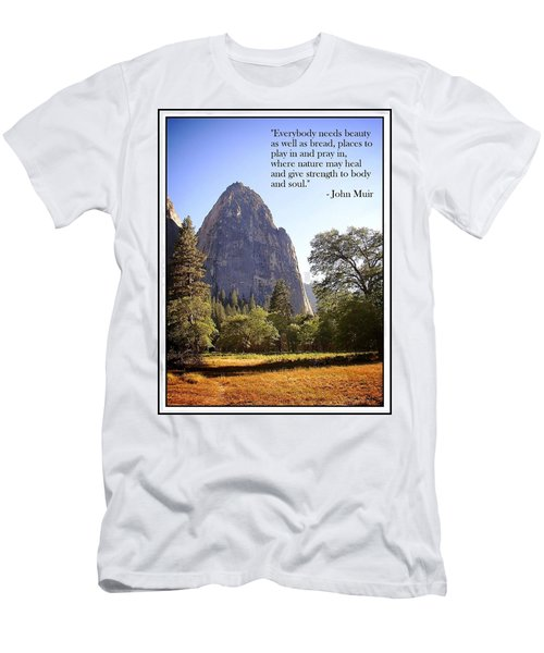 Natures Cathedral Men's T-Shirt (Athletic Fit)