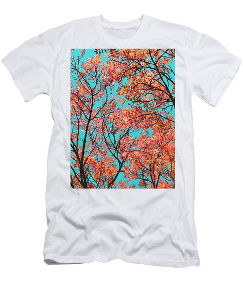 Men's T-Shirt (Slim Fit) featuring the photograph Natures Magic - Orange by Rebecca Harman