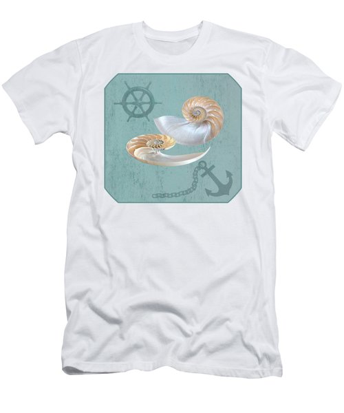 Nautical Nautilus Men's T-Shirt (Athletic Fit)
