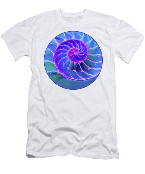 Nautilus Blue Spiral Men's T-Shirt (Athletic Fit)