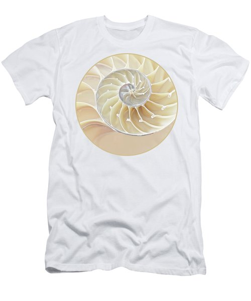 Nautilus Natural Cream Spiral Men's T-Shirt (Athletic Fit)